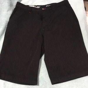 Volcom pinstriped black dress shorts